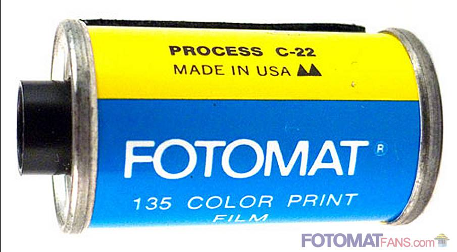 FOTOMAT 135 color print film - Process C-22 - Made in USA