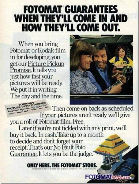1977 KODAK FOTOMAT FILM BOOTH Vintage Print Ad