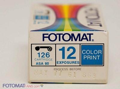 126 cartridge – ASA 80 – 12 exposures – color print